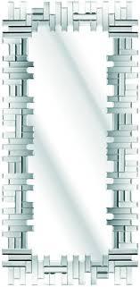 modern full length tiled glass mirror 120x58cm sol19