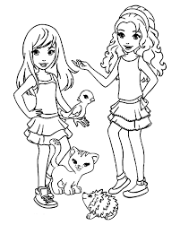 Lego Friends Coloring Pages How To Draw Lego Friends Lego