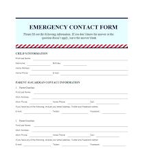 Babysitter Emergency Contact Sheet Employee Emergency Contact Form Template Elegant Sheet Unique
