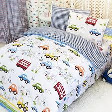 Kids' Duvet Covers - MeMoreCool Home Textile Cute Cartoon Cars ... & Kids' Duvet Covers - MeMoreCool Home Textile Cute Cartoon Cars Design  Upscale 100 Cotton 4 Adamdwight.com