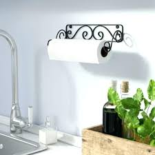 wall paper towel holder black mounted oil rubbed bronze mount p