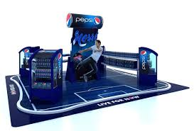 Football Stands Display Pepsi Football Booth Display by kristine grimaldo via Behance 72