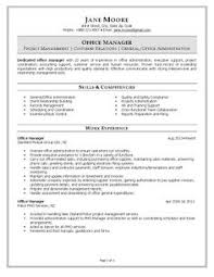 office manager resume example resume samples office manager