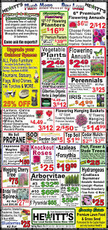 hewitts garden center ad from 2019 05 30