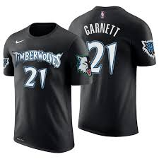 Classic 21 Timberwolves Kevin Garnett Edition T-shirt Black Men