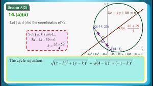 hkdse 2016 maths core paper 1 q14 locus 軌跡 distance formula 距離公式 linear equation circle equation