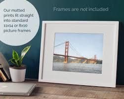 Shop furniture, home décor, cookware & more! San Francisco Matted Print Wall Art Golden Gate By Offley Green