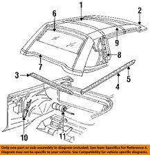 chrysler lebaron convertible chrysler oem 87 95 lebaron convertible soft top weatherstrip seal left 4658021