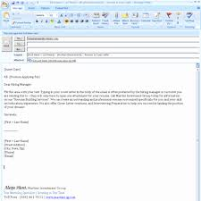 Sending Resume Email Cover Letter Study Customized And Choice