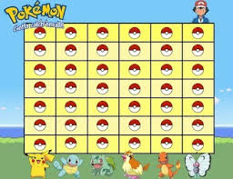 Minecraft Star Chart Pokemon Reward Charts Worksheets Teaching Resources Tpt