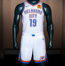 Okc New Jersey Design Thunder Unveils New Uniforms For 2019 2020 Season Wwls Fm