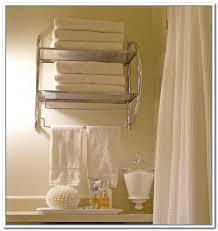 wall mounted towel storage design decoration
