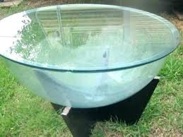 terrarium coffee table vintage timber and glass round or fish tank outbid went snake aldridge