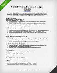 Social Work Resume Sample Simple Social Work Resume Sample Writing Guide Resume Genius