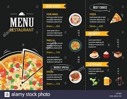 Cafe Menu Template Vector Restaurant Cafe Menu Template Flat Design Stock