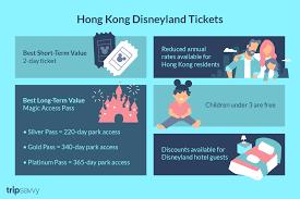 Hong Kong Disneyland Ticket Prices