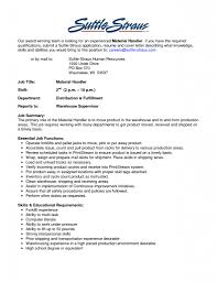 Warehouse Resume Resume Sample For Warehouse Worker Warehouse Worker Skills For 70