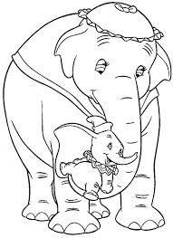 Small Picture Dumbo coloring pages and his mom ColoringStar