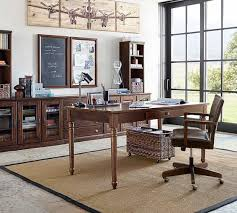 pottery barn office furniture. printeru0027s large home office suite tuscan chestnut pottery barn furniture i