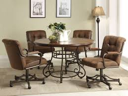 dinette sets chairs with casters. full size of dining chair:sensational gorgeous room chairs casters sets momentous dinette with s