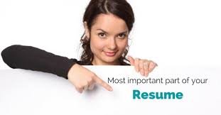 resume important parts parts of a resume
