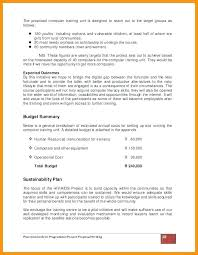 Request For Training Proposal Template Computer Doc Requ