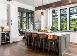 Kitchen Designs With 2 Islands 2 Tone Cabinets Rustic Kitchen Design Modern Mountain