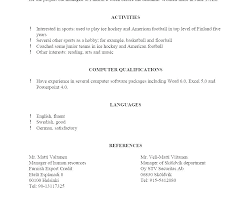 Listing References On Resume Letter Of References Reference In Resume Sample Listing References