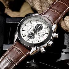 aliexpress com buy megir watch mens watches top brand fashion aliexpress com buy megir watch mens watches top brand fashion leather sports quartz watch for man military chronograph wrist watches men army style from