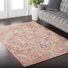 5 x 5 rug. Hali-House Distressed Persian Vintage Pale-Pink Area Rug - 3\u002711 X 5