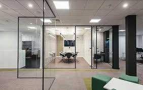 office dividers glass. glass office partition with black frame dividers