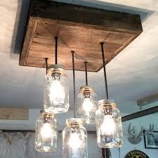 barnboard mason jar chandelier chandelier barn board