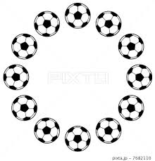 フレーム ボール 枠 サッカーボールの写真素材 Pixta