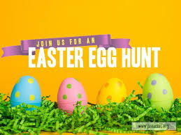 Service Background For Church Services Yellow Easter Egg Hunt