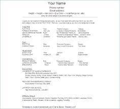 Sample Child Actor Resume Igniteresumes Com
