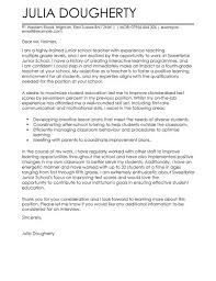 cover letters for teachers teacher education cover letter examples for education livecareer