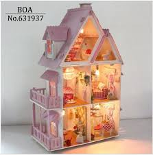 pink dolls house furniture. aliexpresscom buy hot sunshine alice pink diy wooden miniatura doll house furniture handmade 3d miniature dollhouse toys gits english instructions from dolls o