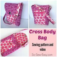 Cross Body Bag pattern - POTM - So Sew Easy & Get the Cross Body Bag pattern Adamdwight.com