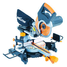 miter saw labeled. evolution rage3-s+ multi-purpose sliding mitre saw with accessory pack, 210 mm (230v) miter labeled