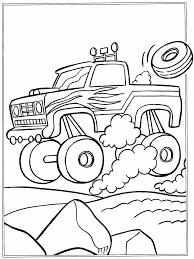 Kleurplaten Paradijs Kleurplaat Monster Truck Intended For