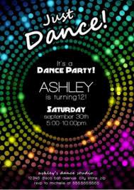 Dance Invitation Ideas Free Disco Party Invitation Encore Kids Parties