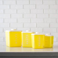 Retro Kitchen Canisters Canister Sets For Kitchen Accessories Ideas Retro Metal Kitchen