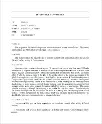 Example Of Office Memorandum Letter Internal Office Memo Template Thepostcode Co