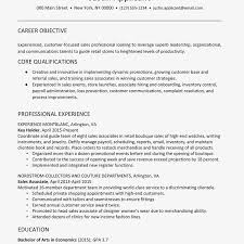Retail Resume Objective Examples Sample Retail Resume And Writing Tips Inventory Control