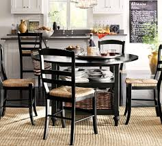 Image Amish Pottery Barn Shayne Dropleaf Kitchen Table Black Pottery Barn