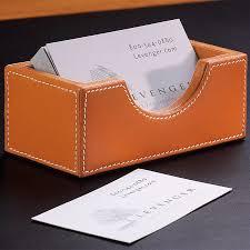 morgan business card holder tan