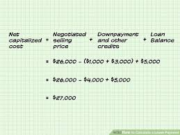 Lease Payment Calculator Impressive How To Calculate A Lease Payment 48 Steps With Pictures