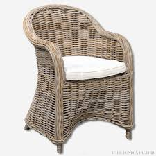 valencia rattan dining chair seagr wicker dining chair thelondonfactory