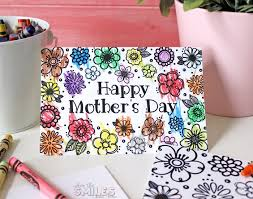 Mothers Day Card Template Enchanting Free Printable Mother's Day Coloring Page Card Cut Files Too