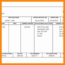 Paycheck Stub Layout 15 Pay Stub Layout Pay Stub Template